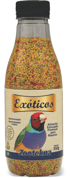 Alimento Extrusado Premium Para Pássaros Exóticos - 350 G
