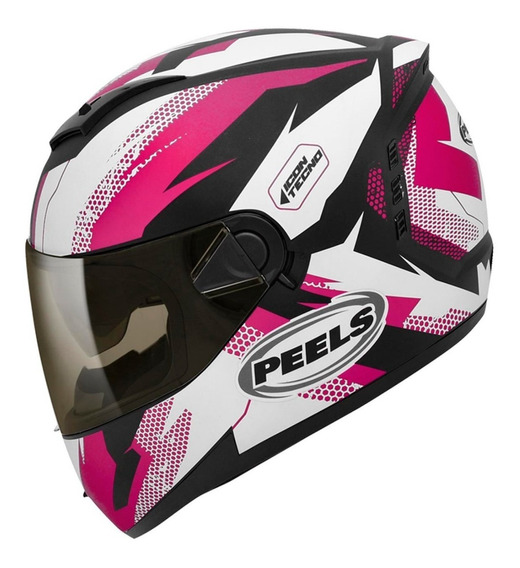 Capacete Moto Feminino Peels Icon Tecno Gsxr Cb Hornet 600cc