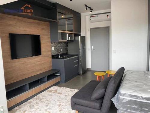 Studio Com 1 Dormitório Para Alugar, 32 M² Por R$ 3.800/mês - Pinheiros - São Paulo/sp - St0045