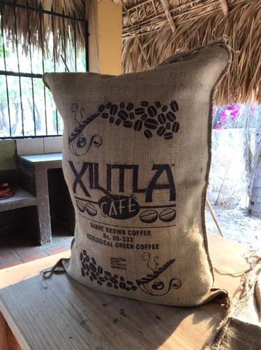 Imagen 1 de 8 de Sacos De Yute Pack De 3 Costales De Suvenires Xilitla Café