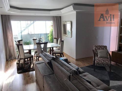 Cobertura Com 3 Dormitórios À Venda, 240 M² Por R$ 850.000,00 - Vila Nova Savoia - São Paulo/sp - Co0085