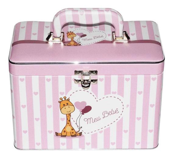 Álbum De Fotos Box Meu Bebê Rosa 200 Fotos 15x21