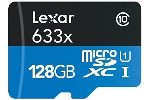 Microsdxc De Alto Rendimiento Lexar 633 X 128gb Uhs-/ U3 Con