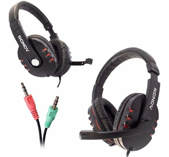 Fone De Ouvido Headphone P2 Gamer P2 Scncy Aq-9800