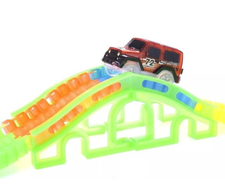 Pack 2 Pista Mágica Flexible Track Car 128 Piezas
