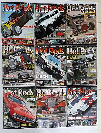 Hot Rods 9 Revistas Carros Antigos E Raros, Frete Grátis
