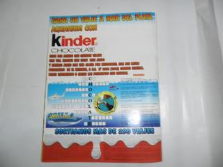 Publicidad Kinder Coleccion 1996 Concurso Miniatura Muñeco