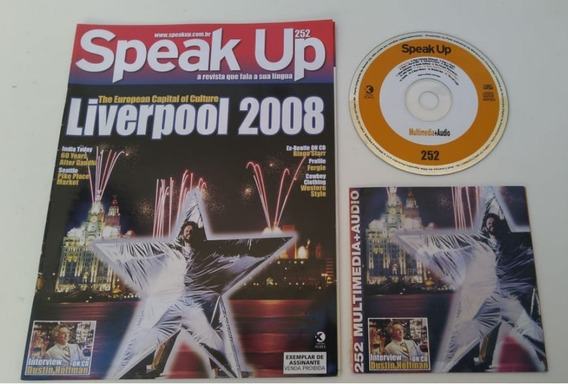 Revista Speak Up 252 Liverpool Excelente P Estudar Inglês.