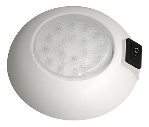 Plafon Led 18 D 103 Mm C Interruptor Luz Blanca Motorhome