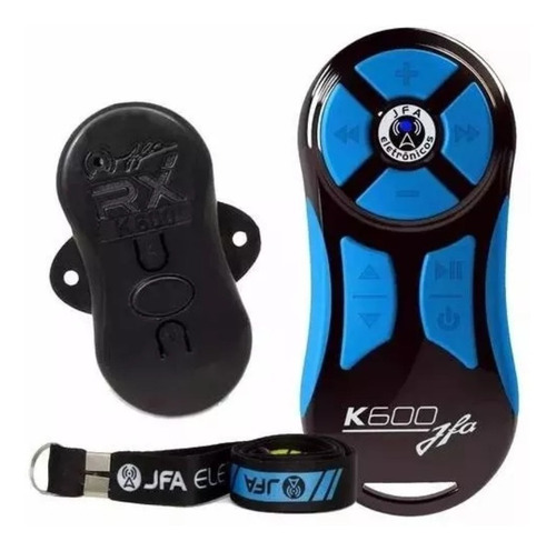 Imagem 1 de 4 de Controle Longa Distancia Jfa K600 Preto Com Azul