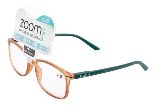 Gafas De Lectura Zoom +1.25-café Con Verde Nuevo Resistente