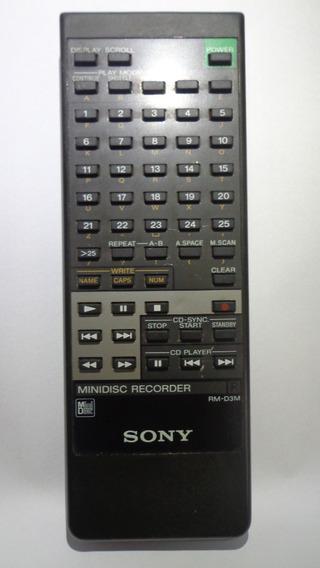 Controle Remoto Original Sony -minidisc Rm-d3m