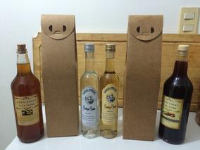 10 Caixas Para Vinho, Licor, Cachaça Em Papel Kraft 400 G