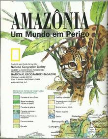 811 Rvt- 1992 Mapa National Geographic América Sul- Amazonas