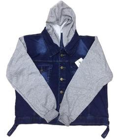 Jaqueta Plus Size Jeans E Moletom Tamanhos Grandes G1 G2 G3