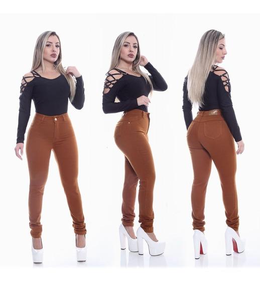 Combo Com 2 Calças Jeans Fem Cintura Alta - Sem Juros