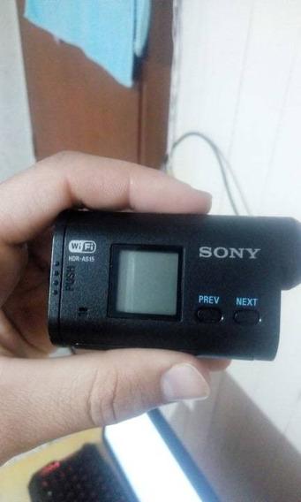 Camera Sonyaction Hdr-as15 /filma Em 1080p Melhor Que Gopro