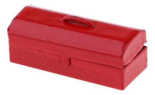 Imagen 1 de 3 de Escala 1:12 Miniatura Caja De Herramienta De Metal