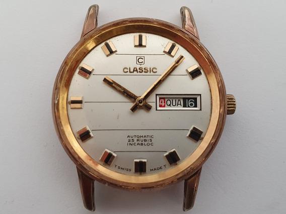 Classic Suíço Automático Day-date Antigo Cx03