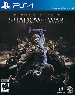 Shadow Of War Middle Earth / Juego Físico / Ps4