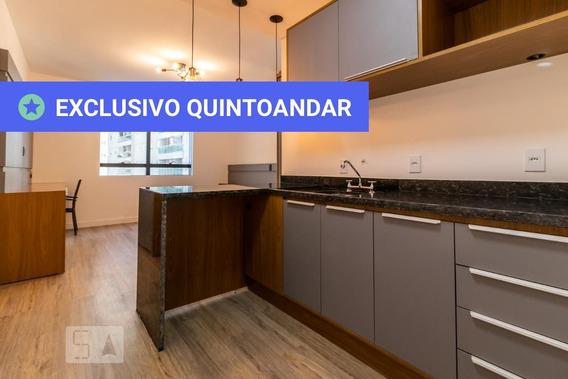 Studio No 6º Andar Mobiliado Com 1 Dormitório E 1 Garagem - Id: 892969894 - 269894