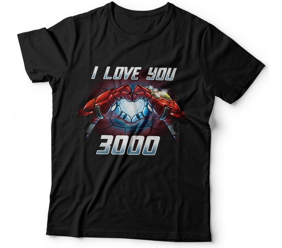 Remera Iron Man Avengers Endgame Love You 3000