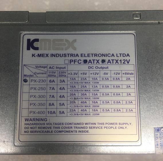 Fonte K-mex Model: Px-230 20pinos Sata 135w Nominal Atx