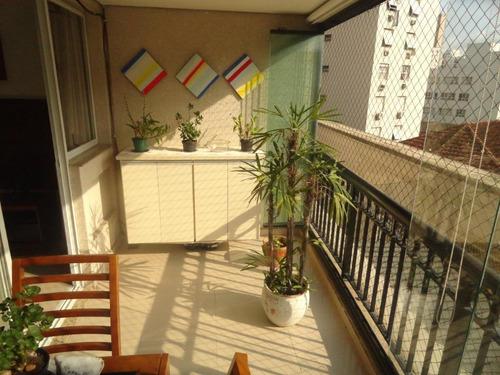 Apartamento Com 2 Dormitórios À Venda, 84 M² Por R$ 590.000,00 - José Menino - Santos/sp - Ap4163