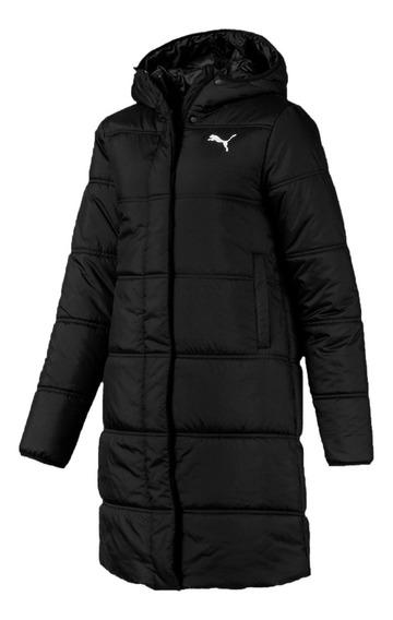Puma Camperon C/capucha Mujer Essentials Padded Coat Negro