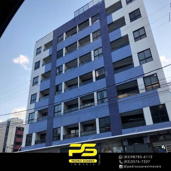 Flat Com 1 Dormitório À Venda, 40 M² Por R$ 330.000 - Tambaú - João Pessoa/pb - Fl0093