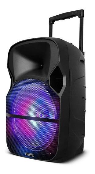 Caixa De Som Portátil Bluetooth Karaokê Com Microfone 400w