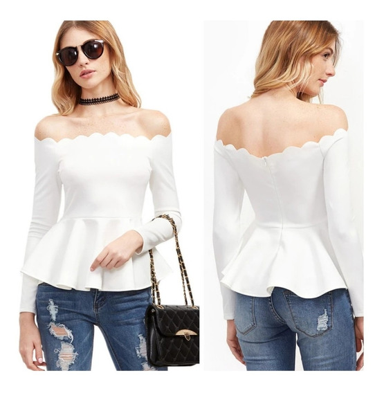 Blusa Casual Blanca Talla S