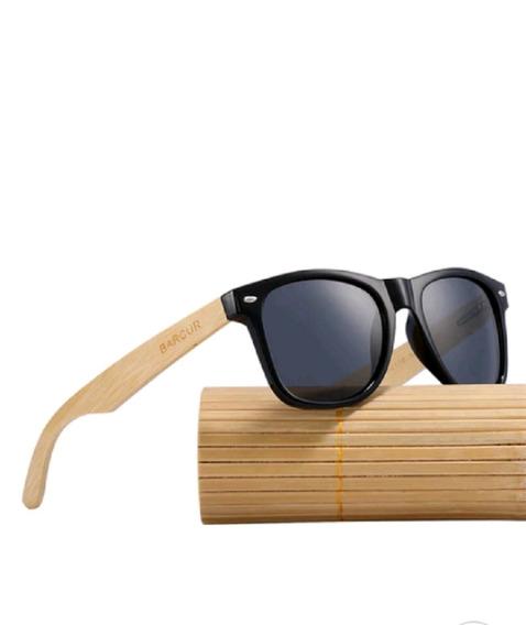 Óculos De Sol Madeira Original Proteção Uv400 Polarizado