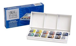 Caja Acuarelas Winsor & Newton X 12 Colores Agua