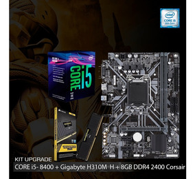 Kit I5 8400 + Placa H310m H Gigabyte + 8gb Ddr4 Corsair Lpx