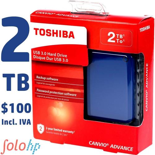 Disco Duro Externo 2tb Toshiba Advance Gtia 2 Años 3 Colores