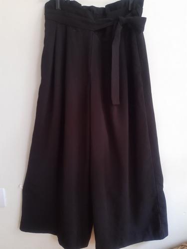 Pantalón Zara Negro Paper Bag Talle Xs Impecable