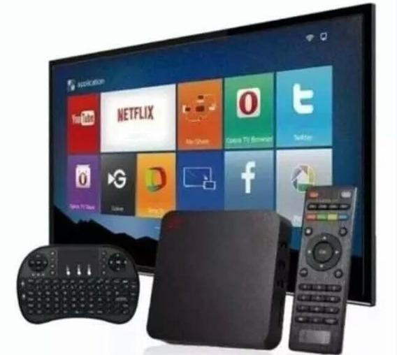 Conversor Transfome Sua Tv Em Smart 4gb32gb+ Mini Teclado