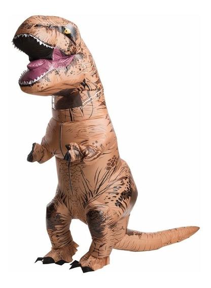 Disfraz Inflable Dinosaurio T-rex Halloween + Inflador