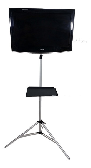 Pedestal De Chão P Tv Plasma Lcd Led Video Bandeja Notebook