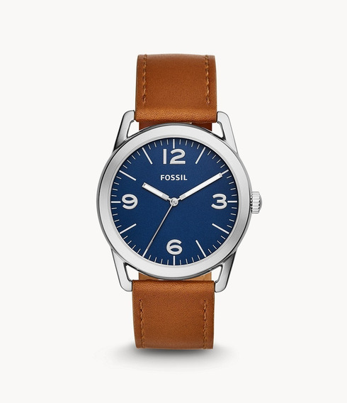 Reloj Fossil Ledger Three-hand Brown Leather 100% Original