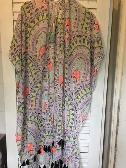 Kimono Forever 21 Plus Talle Especial De Usa -7066