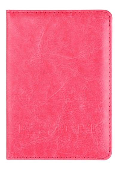 Porta Passaporte Documentos Viagem Cartão (cores) Novo C/ Nf