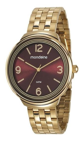 Relogio Mondaine Feminino 53665lpmvde2 Fashion Dourado