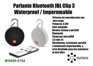 Parlante Bluetooth Jbl Clip 3 Waterproof / Impermeable
