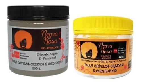 Gel Ativador De Cachos  + Gel Creme    Negra Rosa