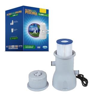 Filtro Piscina Bomba 110v Ou 220v Vazão 3.600 L/h Refil Mor