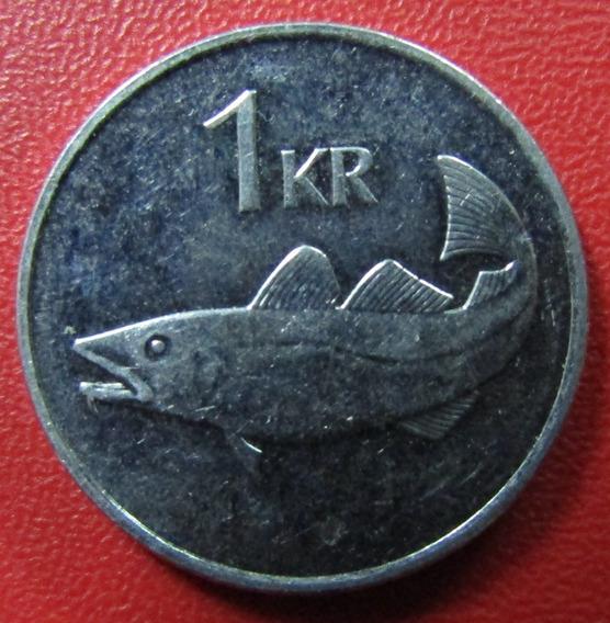 Islandia Moneda1 Krona 2007 Au Km 27a Pez