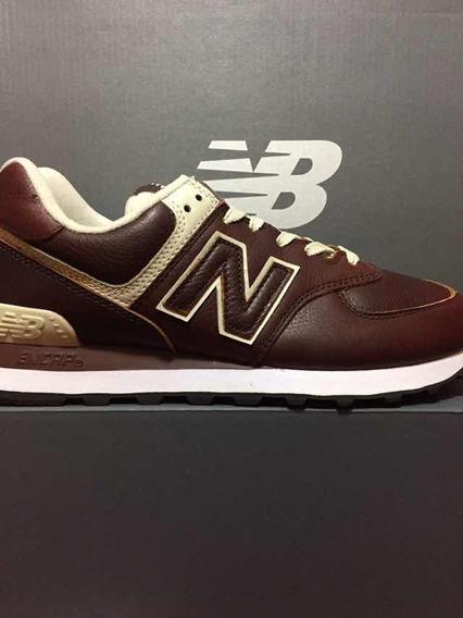 Tênis New Balance Original Ml 574 Lpb Marrom Masculino 39a44