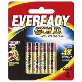 Pilha Aaa4 Eveready Gold Alcalina Palito